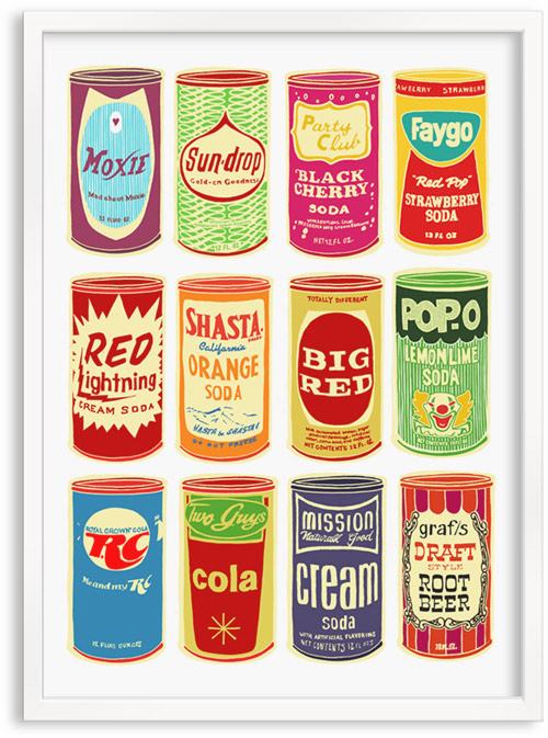 limited edition hand printed hand drawn pop art Silk screen prints by Patrick Edgeley