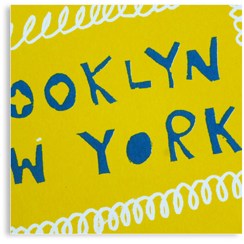 Brooklyn New York limited edition hand printed hand drawn pop art Silk screen prints by Patrick Edgeley