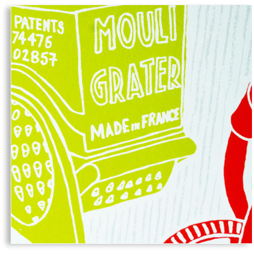 Kitchenware limited edition hand printed hand drawn pop art Silk screen prints by Patrick Edgeley