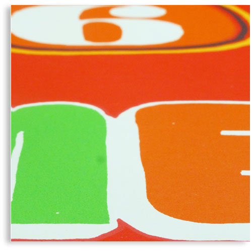 Mexico 68 Olympic games Retro limited edition hand printed hand drawn pop art Silk screen prints by Patrick Edgeley