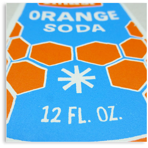 vintage Soda can limited edition hand printed hand drawn pop art Silk screen prints by Patrick Edgeley