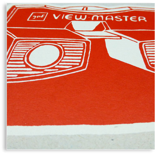 vintage View Master limited edition hand printed hand drawn pop art Silk screen prints by Patrick Edgeley
