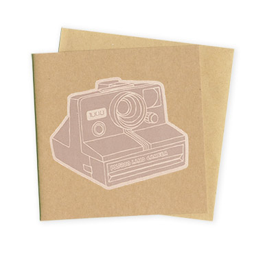 Polaroid Camera – Hand Printed Greeting Card