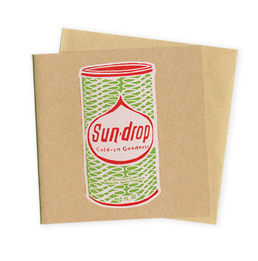 Sun Drop – Hand Printed Greeting Card