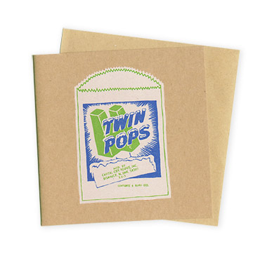 Twin Pops – Hand Printed Greeting Card