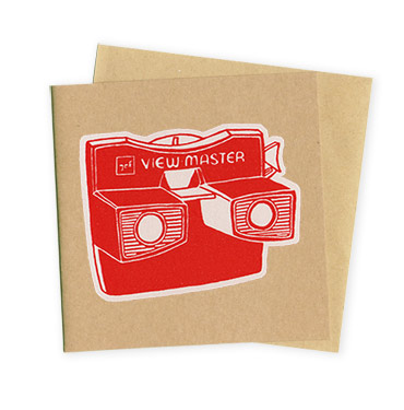 View Master - Hand Printed Greeting card by Patrick Edgeley