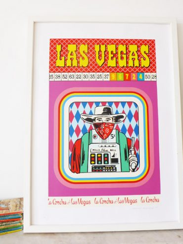 New Screen print 'Las Vegas'